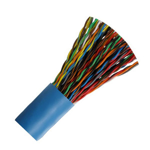 100160BL/FT - CAT5e Cable, 25 Pair, UTP, Riser Rated (CMR), Solid Bare Copper - Blue - Per Foot
