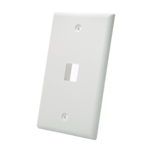 102101WH - 1-Port Keystone Wall Plate - White