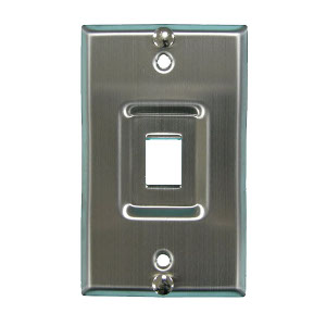 102199SS - 1-Port Stainless Steel Keystone Hanging Wall Plate