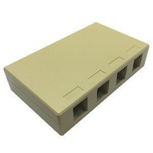 102304D/IV - 4-Port Keystone Surface Mount Box (Suitable for 8-in-a-row Jacks) - Ivory