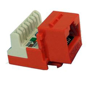 102654OR - CAT5e - RJ45 - 8-in-a-row Punch Down Keystone Jack Insert - Orange