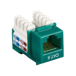 102660GN - CAT6 - RJ45 - Premium Punch Down Keystone Jack Insert - Green
