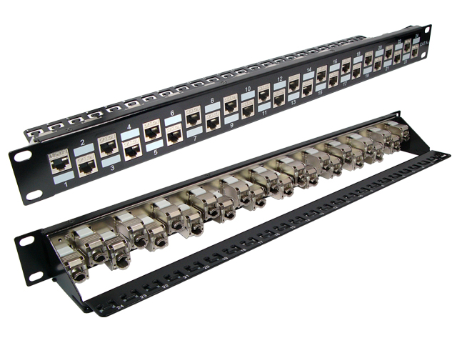 103054-AS - 24-Port Blank CAT6A FTP Snap-In Patch Panel