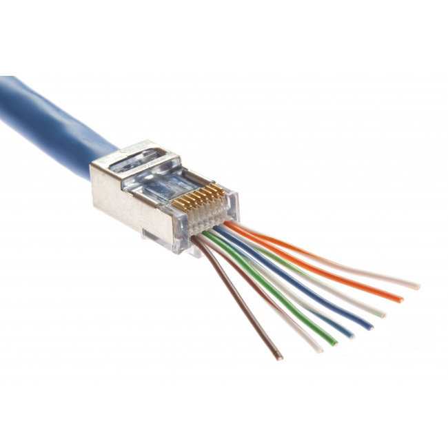 108710S-EZ - Platinum Tools� Shielded EZ-RJ45� CAT5e & CAT6 Connector
