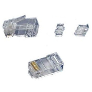 108732 - CAT6A RJ45 Crimp-On Connector Plugs - Bag of 100