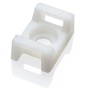 120780WH - Cable Tie Mounting Saddle  - 12.8 x 7 x 5.8mm - Bag of 100 - White