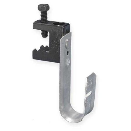 "120932 - J-Hook Cable Hanger with Screw-Type Beam Clamp - 2"" Loop"