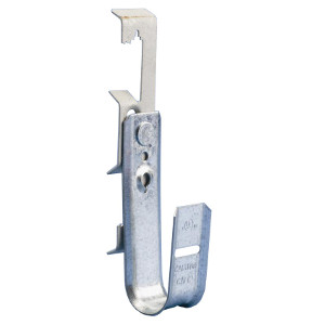"120951 - J-Hook Cable Hanger with 1/4"" Batwing Clip - 2"" Loop"
