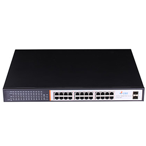252065RM - 24-Port High Power Gigabit PoE Switch (24 Gigabit PoE + 2 SFP) - Rack Mount