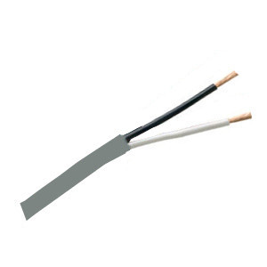 155542GY - Security Wire - 16 AWG/2 Conductor, CL3R, Unshielded, Stranded Bare Copper, 1000ft - Grey