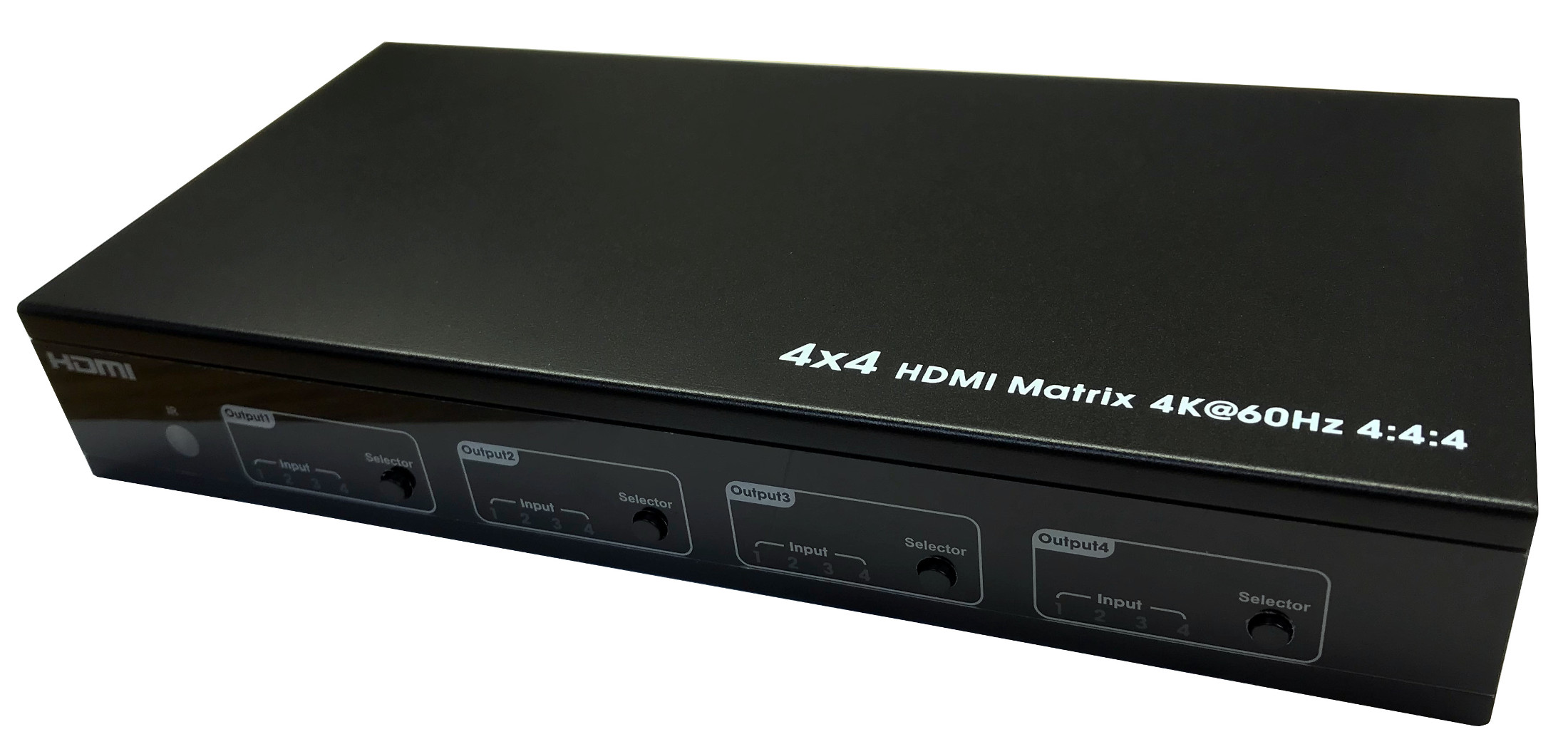 301062 - 4x4 HDMI 2.0 Matrix Switch - 4K, HDR, HDCP 2.2, 18Gbps, IP and RS232 Control