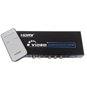 301077 - VGA & Component to HDMI Converter & Switch