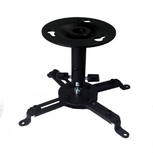 309075BK - Universal Projector Ceiling Mount - 22lbs Capacity - Black