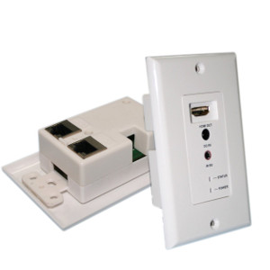 3W1069WH - HDMI Wall Plate Extender over CAT5e/6 with IR Control (IR Cables & Power Supply Included)
