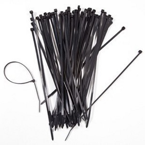 "1CU05010BK/100 - 10"" UV Nylon Cable Ties - 50lbs Tensile Strength - Black (100 Pack)"