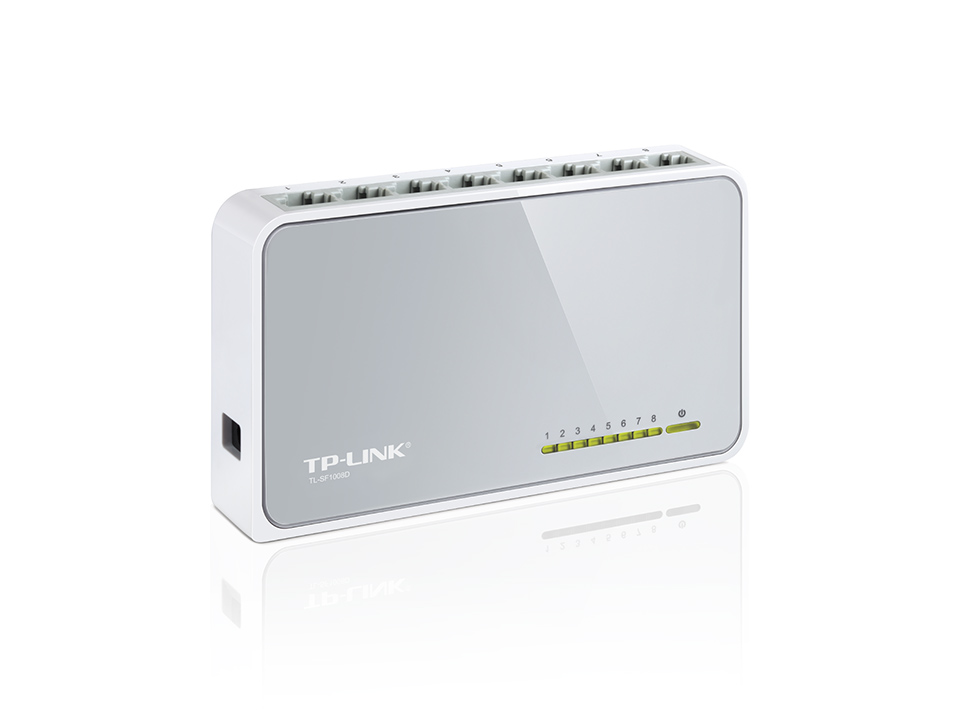 TL-SF1008D - TP-LINK - 8-port Unmanaged Fast Ethernet Desktop Switch