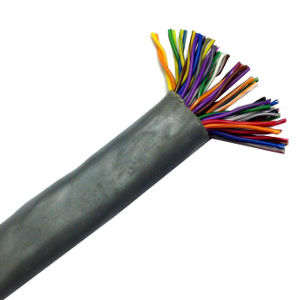 100139GY/500 - CAT3 Cable, 25 Pair, UTP, Riser Rated (CMR), Solid Bare Copper - Grey - 500ft