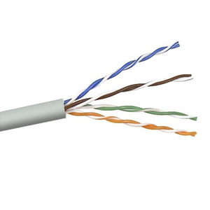 101150GY - CAT5e Cable, 4 Pair, UTP, Riser Rated (CMR), Solid Bare Copper - Grey - 1000ft