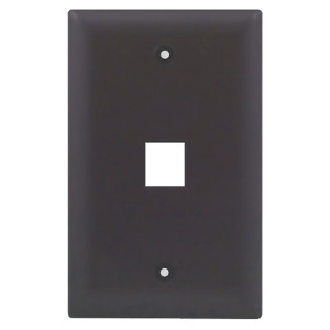 102101BR - 1-Port Keystone Wall Plate - Brown