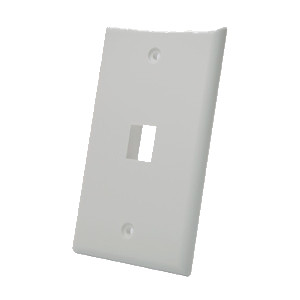 102101GY - 1-Port Keystone Wall Plate - Grey