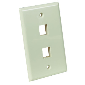 102102AL - 2-Port Keystone Wall Plate - Almond