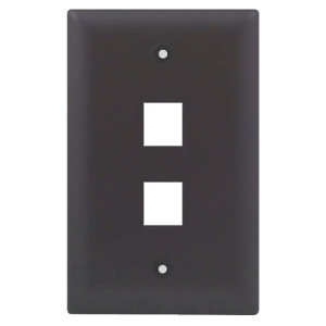 102102BR - 2-Port Keystone Wall Plate - Brown