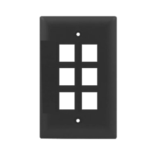 102106BR - 6-Port Keystone Wall Plate - Brown