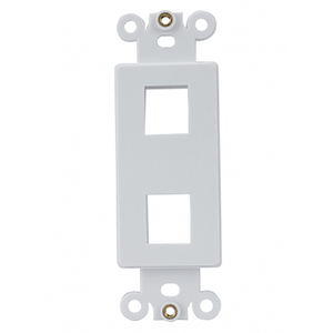102143-2WH - Decora Insert - 2 Keystone Port - White