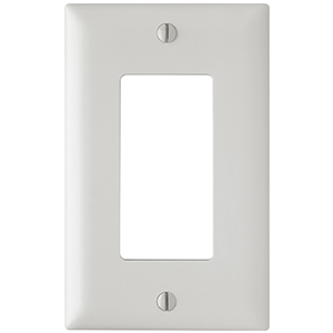 102146-WH - Decora Trim Ring Wall Plate - Single Gang - White