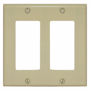 102147-IV - Decora Trim Ring Wall Plate - Double Gang - Ivory
