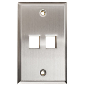 102152 - 2-Port Stainless Steel Wall Plate
