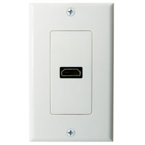 102170WH - 1-Port HDMI Wall Plate - White