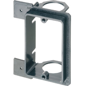 102193NC - Low Voltage Mounting Bracket for New Construction - Single Gang - Plastic