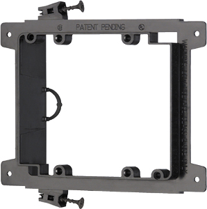 102194NCS - Low Voltage Mounting Bracket for New Construction - Screw-On - Double Gang - Plastic
