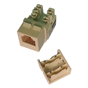 102637-XAL - CAT3 - RJ12 - Punch Down Keystone Jack Insert - Almond