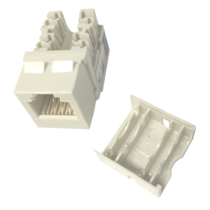 102637WH-N - CAT3 - RJ12 - Punch Down Keystone Jack Insert - Narrow Style - White