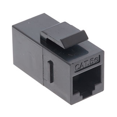 102640BK - CAT5e - RJ45 Female to Female - Keystone Coupler Insert - Black