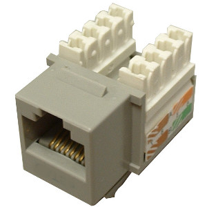 102650GY - CAT5e - RJ45 - Premium Punch Down Keystone Jack Insert - Grey