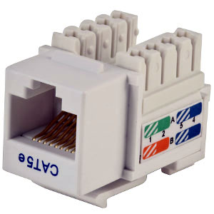 102650WH - CAT5e - RJ45 - Premium Punch Down Keystone Jack Insert - White
