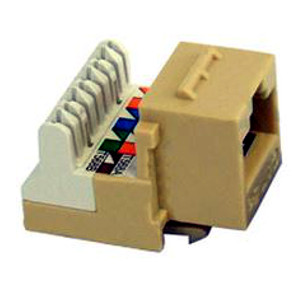 102654IV - CAT5e - RJ45 - 8-in-a-row Punch Down Keystone Jack Insert - Ivory