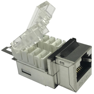 102656-S - CAT5e - RJ45 - Shielded Toolless Keystone Jack Insert