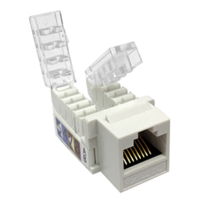 102656WH - CAT5e - RJ45 - Toolless Keystone Jack Insert - White