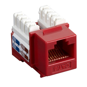 102660RD - CAT6 - RJ45 - Premium Punch Down Keystone Jack Insert - Red
