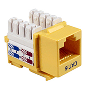 102660YL - CAT6 - RJ45 - Premium Punch Down Keystone Jack Insert - Yellow
