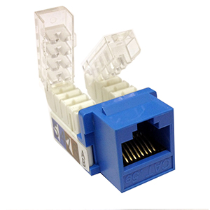 102663BL - CAT6 - RJ45 - Premium Toolless Keystone Jack Insert - Blue