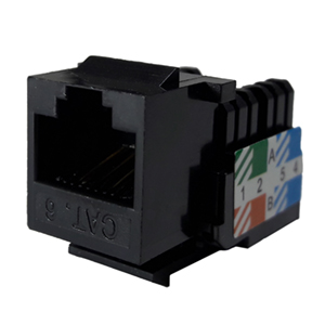102666BK - CAT6 - RJ45 - Standard Punch Down Keystone Jack Insert - Black