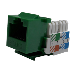 102666GN - CAT6 - RJ45 - Standard Punch Down Keystone Jack Insert - Green