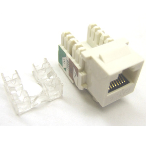102666WH - CAT6 - RJ45 - Standard Punch Down Keystone Jack Insert - White