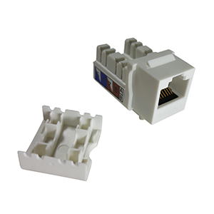 102671WH - CAT6A - RJ45 - 10G Punch Down Keystone Jack Insert - White
