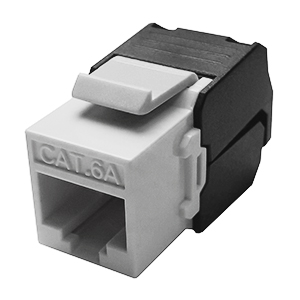 102675WH - CAT6A - RJ45 - 10G Toolless Keystone Jack Insert - White